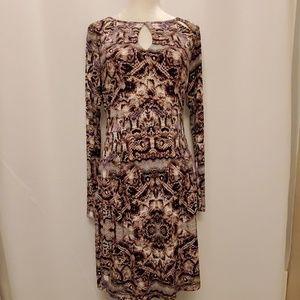 J Lo  snakeskin dress, size large, EUC